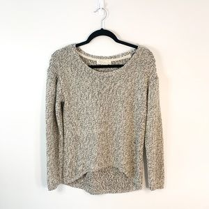 RD Style Gray & Tan Elbow Patch Sweater Size M
